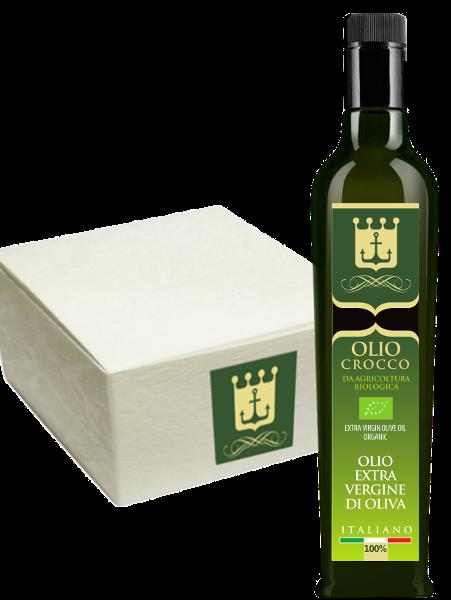 Olio Crocco (extra vergine di oliva bio) 0,5 lt. – confezione da 12 bottiglie